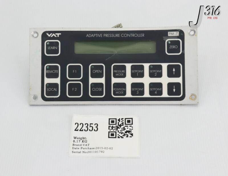 22353 Vat Pm-7 Adaptive Pr Ctlr Display E142420 7r87119020hj 102534-r1