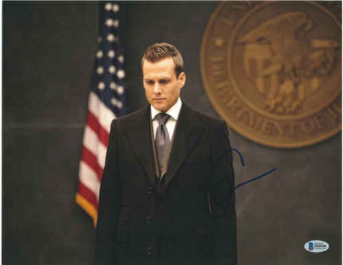 GABRIEL MACHT SIGNED 11X14 PHOTO SUITS BECKETT BAS AUTOGRAPH AUTO C