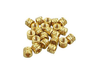 20x 14-20 Brass Threaded Heat Set Inserts For Plastic 3d Printing Brass Metal