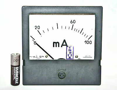 100ma Ampmeter Analog Current Panel Meter Ammeter 0-100ma