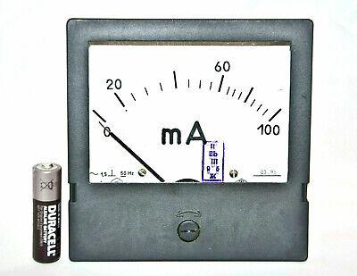 100ma Ampmeter Analog Current Panel Meter Ammeter 0-100ma