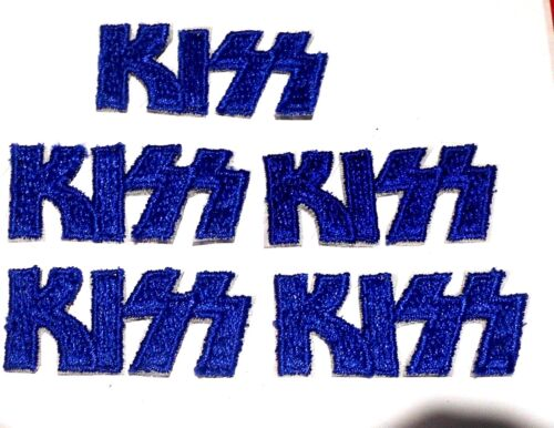 """Kiss Patch Lot of 5 Embroidered 2-1/8""""  Iron On Vintage"""