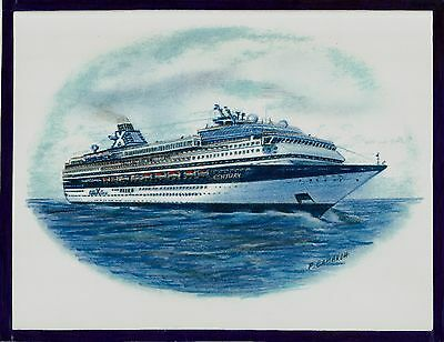 Original Art Work    Ms Century    Celebrity Cruises   Cruise Ship
