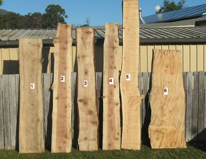 Live Edge Timber Slabs - RARE and sought after species on offer