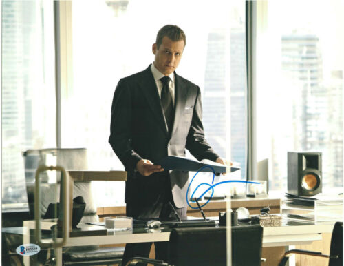 GABRIEL MACHT SIGNED 11X14 PHOTO SUITS BECKETT BAS AUTOGRAPH AUTO B