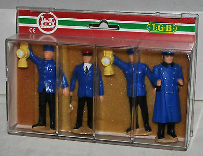 LGB Railroad Worker Figures - Set of 4 in Box - G Scale People