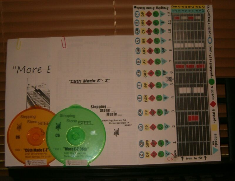 """C6th Beginner Course """"COMBO"""" for pedal steel guitar"""