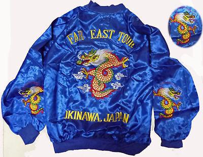 80s Vintage SUKAJAN!VTG Deadstock FAR EAST TOUR DRAGONS Jacket Bomber Okinawa
