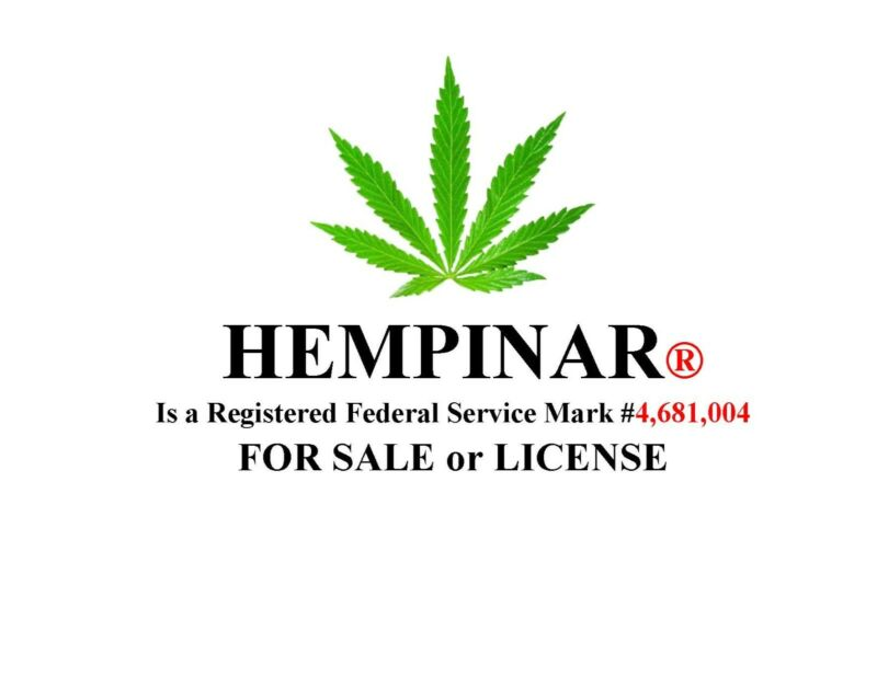 HEMPINAR® > a Federal REGISTERED Service Mark is FOR SALE
