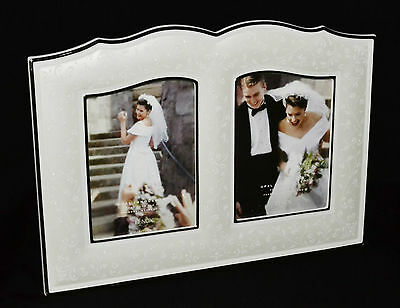 "Lenox Wedding Promises Opal Innocence 5"" x 7"" Double Picture Frame NWT"
