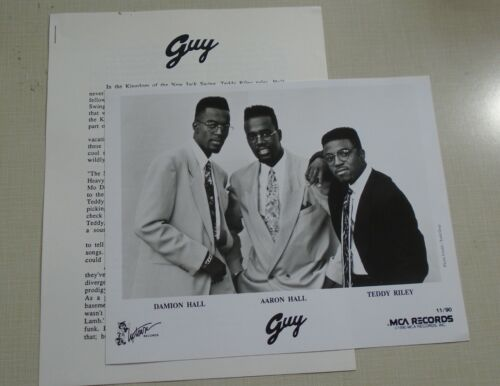 Guy The Future press kit with photo Teddy Riley new jack swing