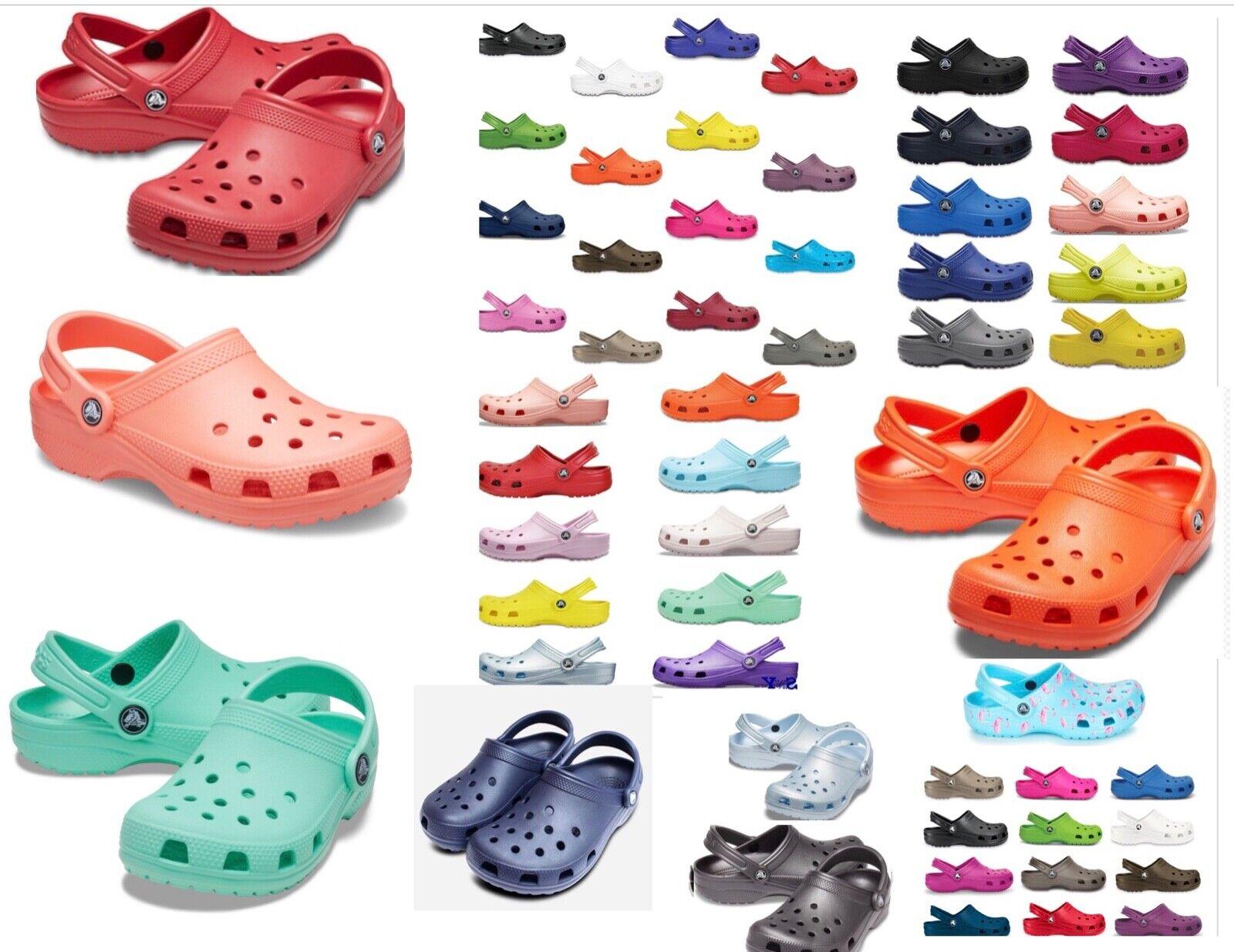 25 colors CROCS Original CLASSIC Clogs Shoes sandals sizes 4 17 vegan