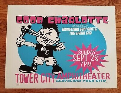 Good Charlotte Poster with special guests Something Corporate Cleveland S/N