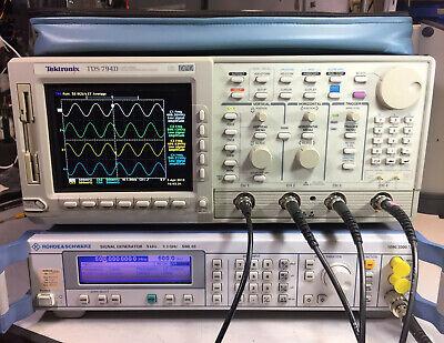 Tektronix Tds794d 4 Ch Oscilloscope 2ghz 4gss 13 1f Hd 2m 2f 2c Lcd Cem Jit Eye