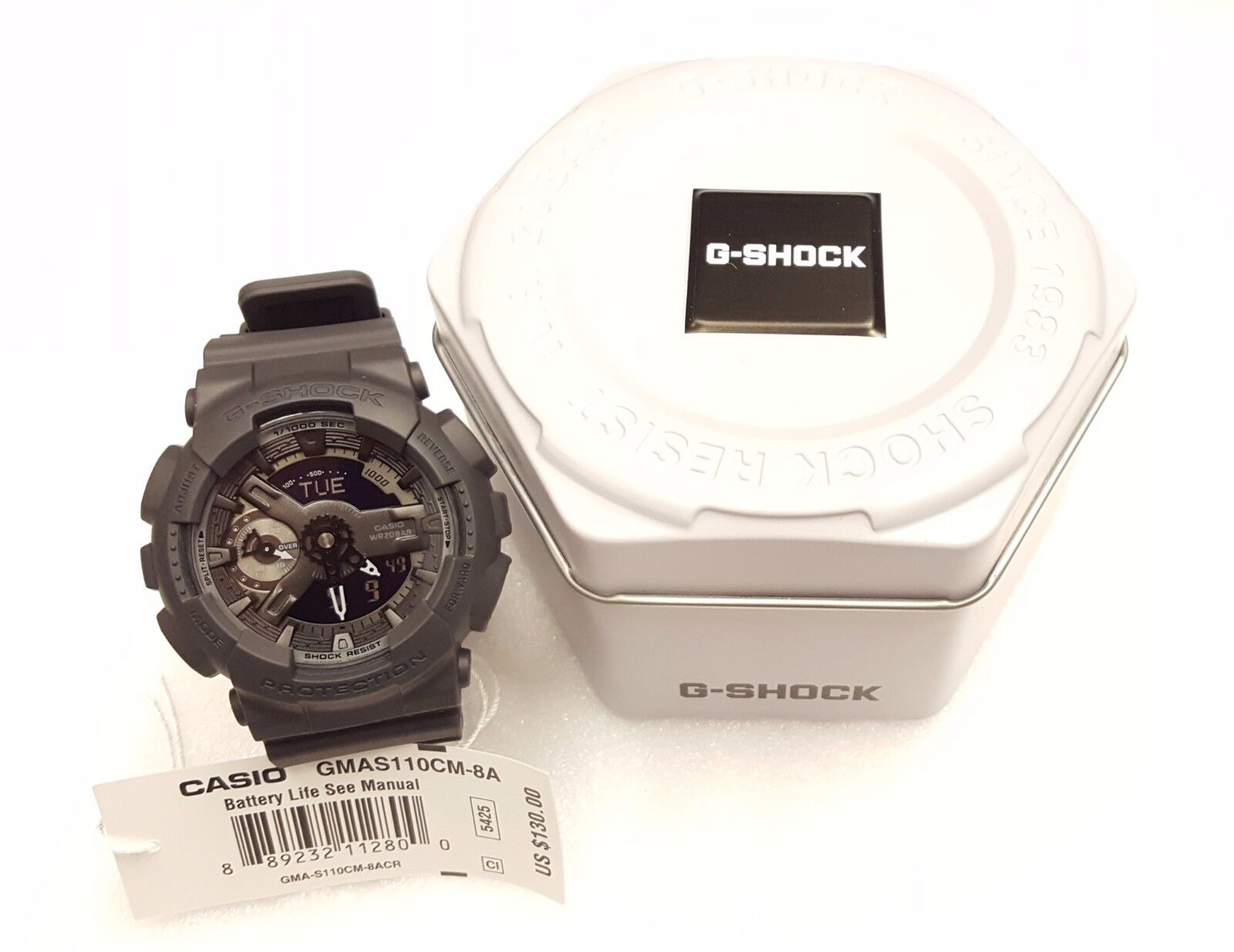 Casio G-Shock Analog-Digital  Resin Ladies Watch GMAS110CM-