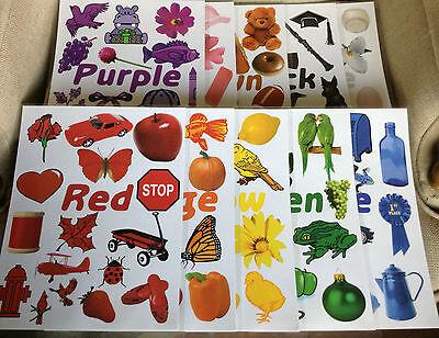 Set of 11 Posters Teaching Colors for Preschool/Kindergarten Classroom
