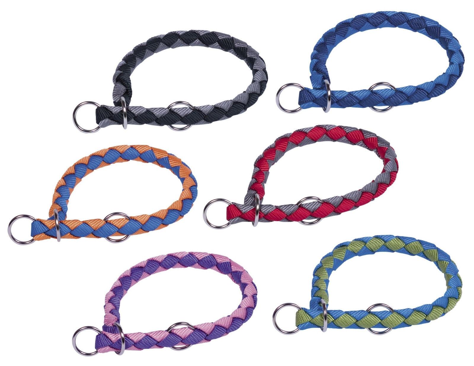 Würger geflochten 2 farbig 6 Größen Zugstopphalsband Hundehalsband Würgehalsband
