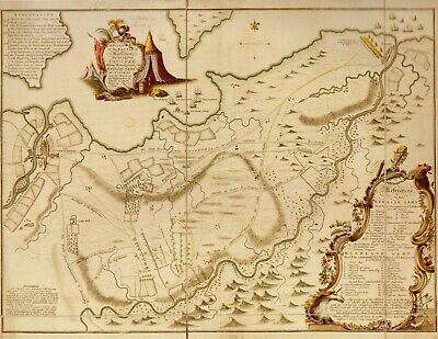 HARDBACK MAP- PLAN BATTLE OF CULLODEN ENGLISH & SCOTS 1746 BONNIE PRINCE CHARLIE