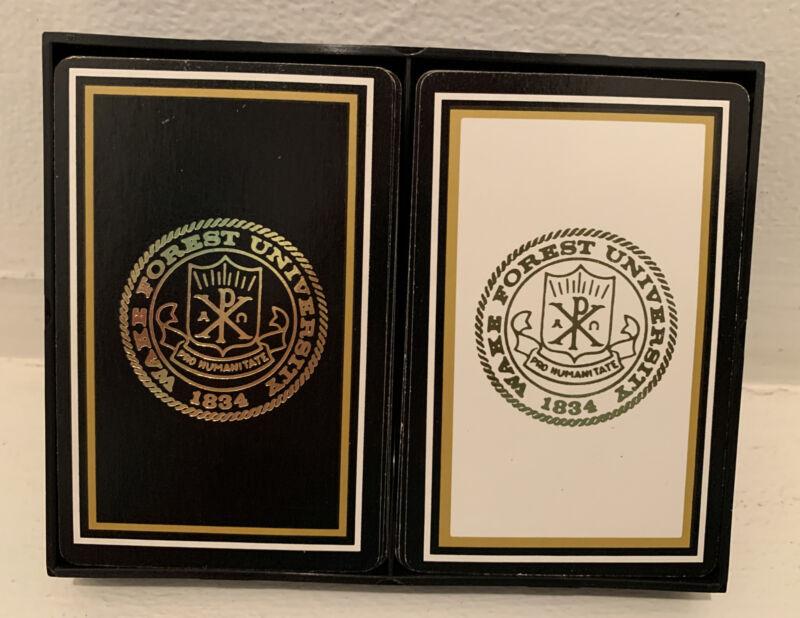 Vintage Double Deck cards Wake Forest University College Winston Salem NC 1834