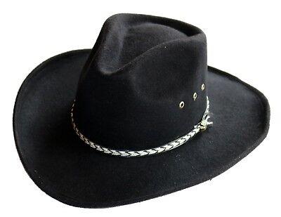 k schwarz Gr. XS/ 50 cm Reiter Cowboy Hut Linedance Kostüm (Kinder Cowboys Hüte)