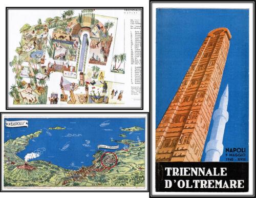Triennale D'Oltremare 1940 Exhibition of Italian Overseas Lands No Copies OCLC