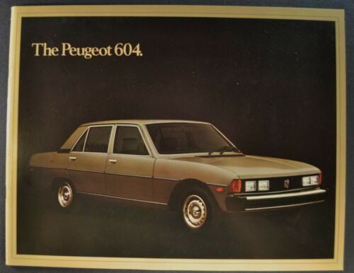 1977-1978 Peugeot 604 Sedan Catalog Sales Brochure Excellent Original