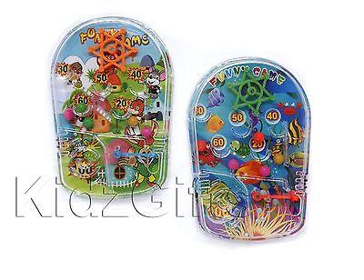 Kids Children's Plastic Handheld Mini Pinball Classic Toy Game Travel Party Bag