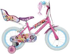 "Disney Princess Girls Kids 4-6yrs Bike - 14"" Strong Steel Frame Calliper Brakes"