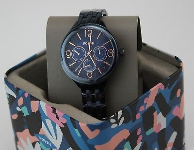 NEW AUTHENTIC FOSSIL IP BLUE SUITOR MULTIFUNCTIONAL WOMEN'S LADIES BQ3225 WATCH