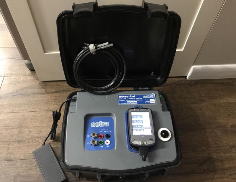 Setra Micro-Cal - model 869 - Ultra-Low Digital Pressure Calibrator FREE SHIP.