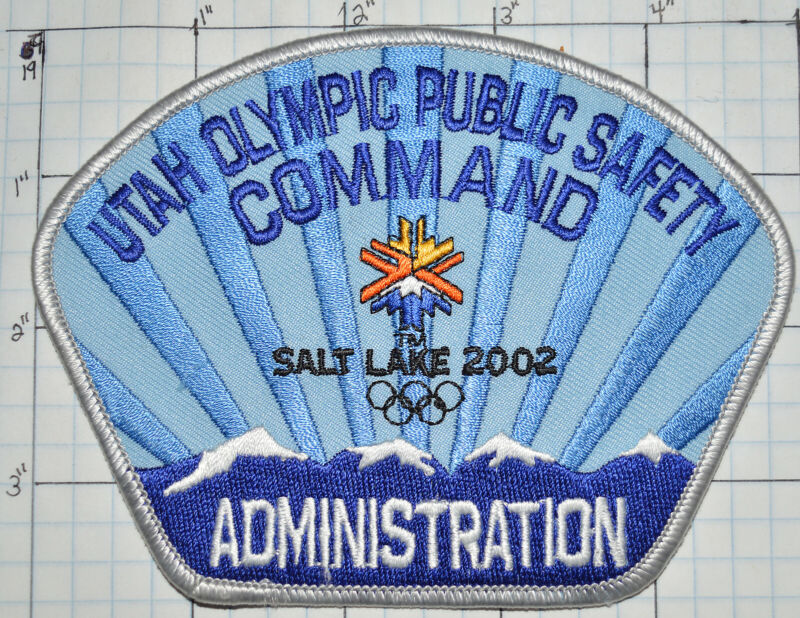 UTAH OLYMPIC PUBLIC SAFETY COMMAND ADMINISTRATION SALT LAKE 2002 PATCH