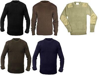 Military Acrylic Classic Commando Sweater Pullover Army Crew Neck Rothco  6347