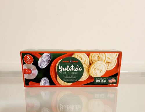 Williams Sonoma Nordic Ware Christmas Yuletide Holiday Cookie Stamps NEW