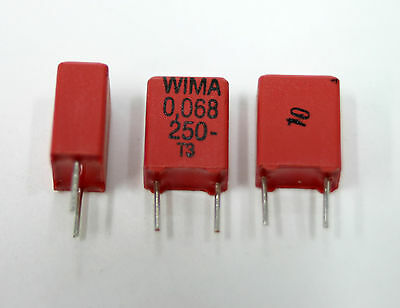 16x Wima Mkp2 0.068uf 250v 683k New Not-nos Poly Capacitors Usa Seller
