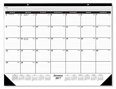 2017 Deskpad Calendar 12 Months  January   December 2017  Holidays Julian Days