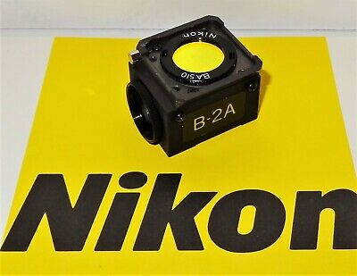Nikon B-2a Fluorescent Microscope Filter Cube For Labophot Optiphot Microphot