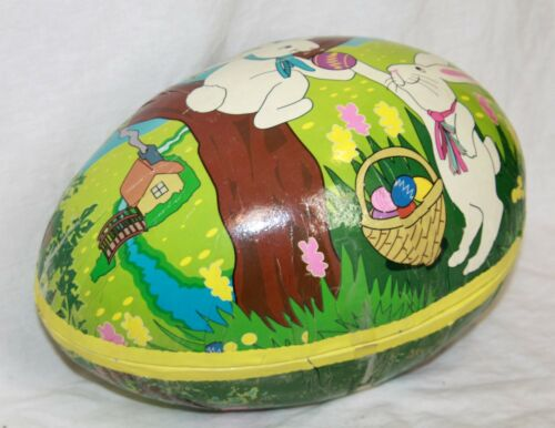 "Large cardboard Easter Egg 12"" paper mache hollow"