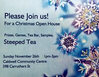Steeped Tea Open House