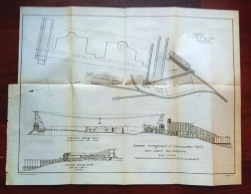 1902 Construction Plant Diagram Fort Stark New Hampshire