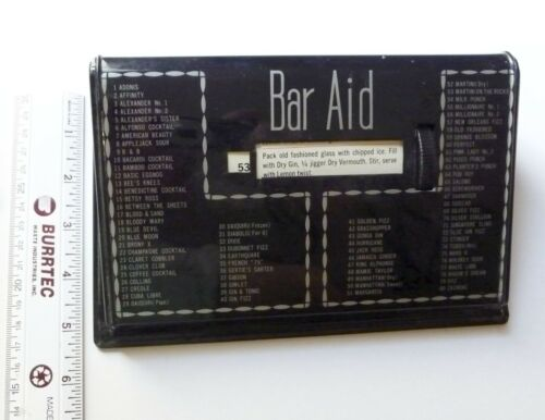 VINTAGE JAPAN BAR AID OF 80 CLASSIC MIXED DRINK COCKTAIL RECIPES GUIDE ROLODEX