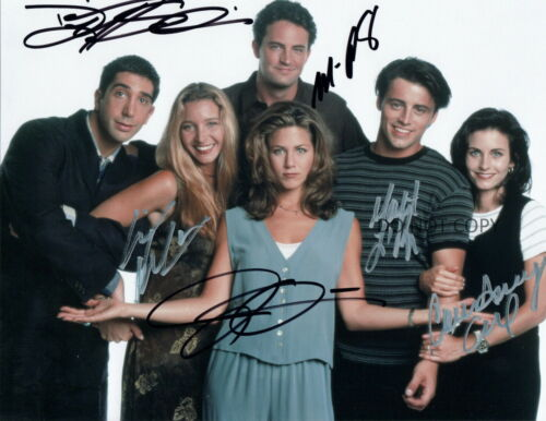 Friends TV Show All Cast Autographed Signed Photo 8x10 REPRINT Aniston Cox Perry