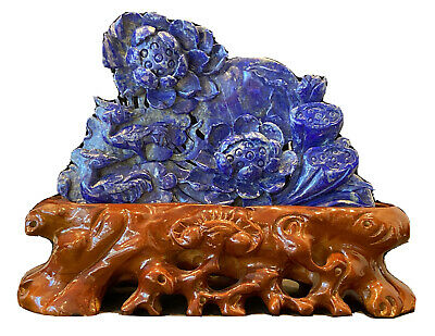 """4/"""" Chinese old Antique bronze carved flowers and plants bursh washer statue C3"""