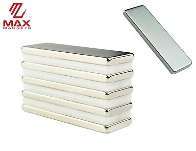 5 Pack Large 1.2 Inch Strong Magnets Rare Earth Neodymium Fridge Bar Block