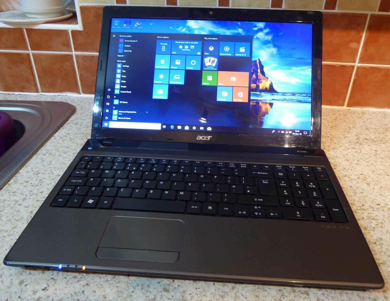 Laptop Windows - ACER ASPIRE 5750 LAPTOP 2.4 GHZ INTEL CORE i5 WITH TURBOBOOST-WINDOWS 10- DVD