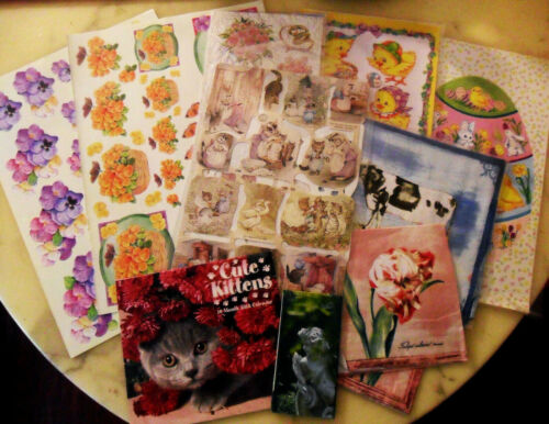 Beatrix Potter & Animals Die-Cut Scraps, Wedding, Easter Stickers, Paper Napkins