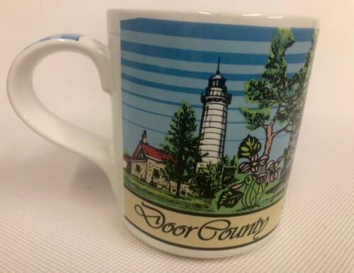 Peninsula Park Door County WI Mug Fishing Lighthouse Lookout Tower Eagle Bluff☕️