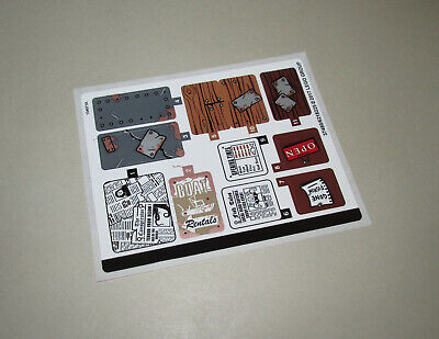 New Lego Ideas Original Unused Sticker Sheet from Old Fishing Store 21310