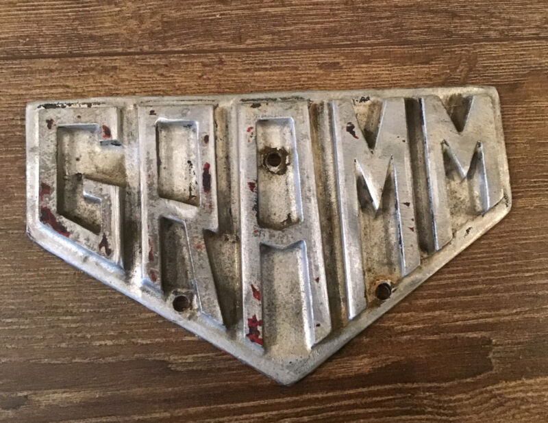 Vintage GRAMM Bernstein Truck Name Plate Sign Antique Auto Lima OH Free Ship