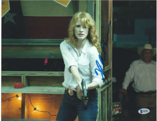 JESSICA CHASTAIN SIGNED 11X14 PHOTO TEXAS KILLING FIELDS BECKETT BAS AUTOGRAPH