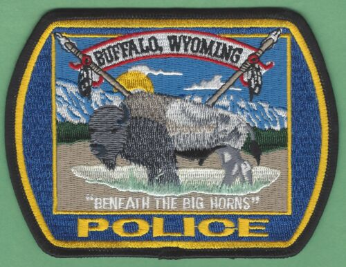 BUFFALO WYOMING POLICE SHOULDER PATCH